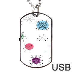 Atomic Starbursts Circle Line Polka Dog Tag Usb Flash (two Sides) by Mariart