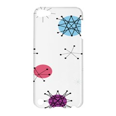 Atomic Starbursts Circle Line Polka Apple Ipod Touch 5 Hardshell Case by Mariart