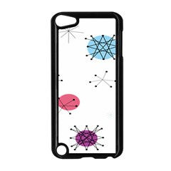 Atomic Starbursts Circle Line Polka Apple Ipod Touch 5 Case (black) by Mariart