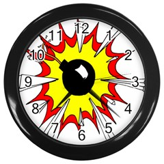 Book Explosion Boom Dinamite Wall Clocks (black) by Mariart