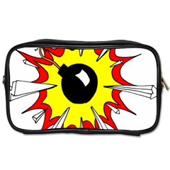 Book Explosion Boom Dinamite Toiletries Bags 2 Side by Mariart