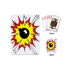 Book Explosion Boom Dinamite Playing Cards (mini)  by Mariart