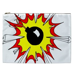 Book Explosion Boom Dinamite Cosmetic Bag (xxl)  by Mariart