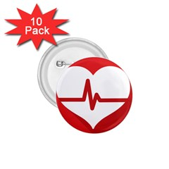 Cardiologist Hypertension Rheumatology Specialists Heart Rate Red Love 1 75  Buttons (10 Pack) by Mariart
