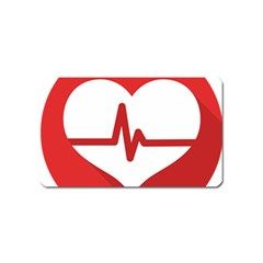 Cardiologist Hypertension Rheumatology Specialists Heart Rate Red Love Magnet (name Card) by Mariart