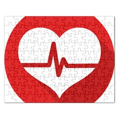 Cardiologist Hypertension Rheumatology Specialists Heart Rate Red Love Rectangular Jigsaw Puzzl by Mariart
