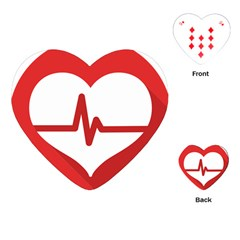 Cardiologist Hypertension Rheumatology Specialists Heart Rate Red Love Playing Cards (heart)  by Mariart