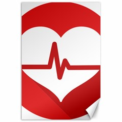 Cardiologist Hypertension Rheumatology Specialists Heart Rate Red Love Canvas 24  X 36  by Mariart