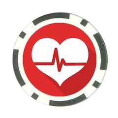 Cardiologist Hypertension Rheumatology Specialists Heart Rate Red Love Poker Chip Card Guard by Mariart