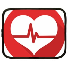 Cardiologist Hypertension Rheumatology Specialists Heart Rate Red Love Netbook Case (xl)  by Mariart