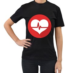 Cardiologist Hypertension Rheumatology Specialists Heart Rate Red Love Women s T Shirt (black) by Mariart