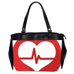 Cardiologist Hypertension Rheumatology Specialists Heart Rate Red Love Office Handbags (2 Sides)  by Mariart