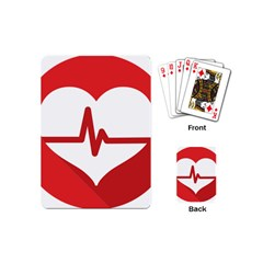 Cardiologist Hypertension Rheumatology Specialists Heart Rate Red Love Playing Cards (mini)  by Mariart