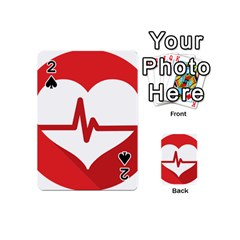 Cardiologist Hypertension Rheumatology Specialists Heart Rate Red Love Playing Cards 54 (mini)  by Mariart