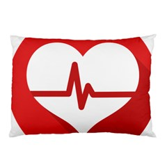 Cardiologist Hypertension Rheumatology Specialists Heart Rate Red Love Pillow Case (two Sides) by Mariart