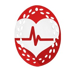 Cardiologist Hypertension Rheumatology Specialists Heart Rate Red Love Oval Filigree Ornament (two Sides) by Mariart