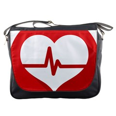 Cardiologist Hypertension Rheumatology Specialists Heart Rate Red Love Messenger Bags by Mariart