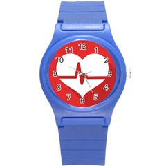 Cardiologist Hypertension Rheumatology Specialists Heart Rate Red Love Round Plastic Sport Watch (s) by Mariart