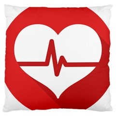 Cardiologist Hypertension Rheumatology Specialists Heart Rate Red Love Large Cushion Case (two Sides) by Mariart