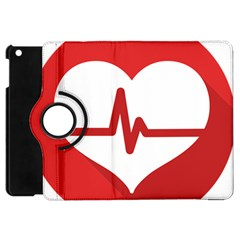 Cardiologist Hypertension Rheumatology Specialists Heart Rate Red Love Apple Ipad Mini Flip 360 Case by Mariart
