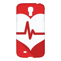 Cardiologist Hypertension Rheumatology Specialists Heart Rate Red Love Samsung Galaxy S4 I9500/i9505 Hardshell Case by Mariart