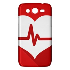 Cardiologist Hypertension Rheumatology Specialists Heart Rate Red Love Samsung Galaxy Mega 5 8 I9152 Hardshell Case  by Mariart