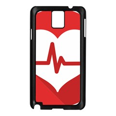 Cardiologist Hypertension Rheumatology Specialists Heart Rate Red Love Samsung Galaxy Note 3 N9005 Case (black) by Mariart
