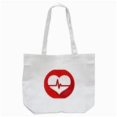 Cardiologist Hypertension Rheumatology Specialists Heart Rate Red Love Tote Bag (white) by Mariart