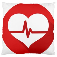 Cardiologist Hypertension Rheumatology Specialists Heart Rate Red Love Large Flano Cushion Case (two Sides) by Mariart