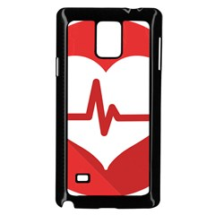 Cardiologist Hypertension Rheumatology Specialists Heart Rate Red Love Samsung Galaxy Note 4 Case (black) by Mariart
