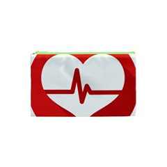Cardiologist Hypertension Rheumatology Specialists Heart Rate Red Love Cosmetic Bag (xs) by Mariart
