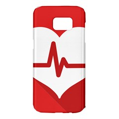 Cardiologist Hypertension Rheumatology Specialists Heart Rate Red Love Samsung Galaxy S7 Edge Hardshell Case
