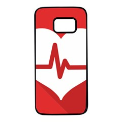 Cardiologist Hypertension Rheumatology Specialists Heart Rate Red Love Samsung Galaxy S7 Black Seamless Case by Mariart