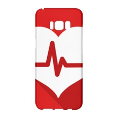 Cardiologist Hypertension Rheumatology Specialists Heart Rate Red Love Samsung Galaxy S8 Hardshell Case  by Mariart