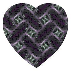 Closeup Purple Line Jigsaw Puzzle (heart) by Mariart