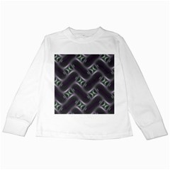 Closeup Purple Line Kids Long Sleeve T-shirts by Mariart
