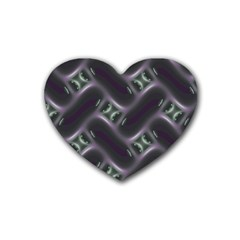 Closeup Purple Line Heart Coaster (4 Pack)  by Mariart