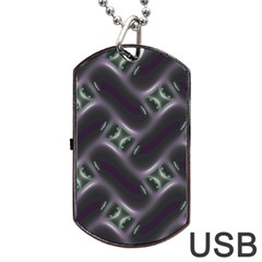 Closeup Purple Line Dog Tag Usb Flash (two Sides) by Mariart