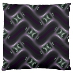 Closeup Purple Line Large Cushion Case (two Sides)