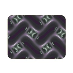 Closeup Purple Line Double Sided Flano Blanket (mini)  by Mariart