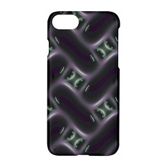 Closeup Purple Line Apple Iphone 7 Hardshell Case by Mariart