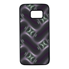 Closeup Purple Line Samsung Galaxy S7 Black Seamless Case by Mariart
