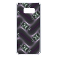 Closeup Purple Line Samsung Galaxy S8 Plus White Seamless Case