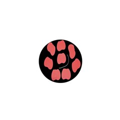 Craft Pink Black Polka Spot 1  Mini Buttons by Mariart