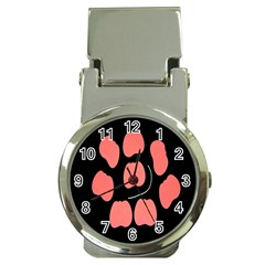 Craft Pink Black Polka Spot Money Clip Watches by Mariart