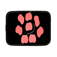 Craft Pink Black Polka Spot Netbook Case (small)