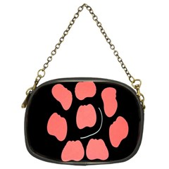 Craft Pink Black Polka Spot Chain Purses (two Sides)  by Mariart