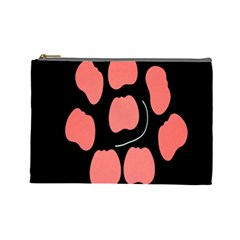 Craft Pink Black Polka Spot Cosmetic Bag (large)  by Mariart