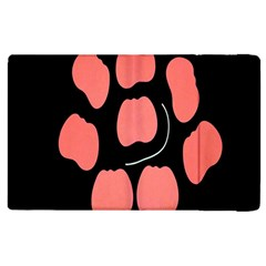 Craft Pink Black Polka Spot Apple Ipad 2 Flip Case by Mariart