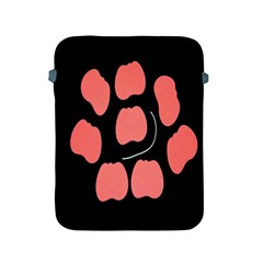 Craft Pink Black Polka Spot Apple Ipad 2/3/4 Protective Soft Cases by Mariart